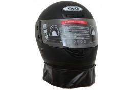 Motor Kaskı Tam Kapalı Çeneli Boyunluklu MAT Siyah ( L )