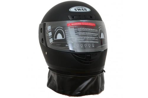 Motor Kaskı Tam Kapalı Çeneli Boyunluklu MAT Siyah ( S )